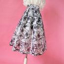 skirt Summer 2021 S. M, l, XL, 2XL, customizable white Mid length dress grace High waist Fluffy skirt Big flower Type A Ziweiyi