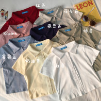 T-shirt Gray, white, red, green, Navy, cream yellow, dark pink, haze blue Average size Summer 2020 Short sleeve Polo collar Self cultivation have cash less than that is registered in the accounts routine commute cotton 86% (inclusive) -95% (inclusive) 18-24 years old Korean version 6369W