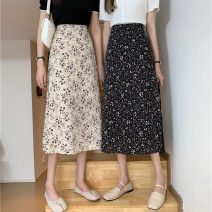 skirt Summer 2021 Average size Apricot, black Mid length dress commute High waist A-line skirt Decor Type A 18-24 years old 1172H 71% (inclusive) - 80% (inclusive) polyester fiber Korean version