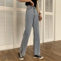 Jeans Summer 2021 Picture color S,M,L,XL trousers High waist Straight pants routine 18-24 years old Cotton denim 7763X 51% (inclusive) - 70% (inclusive)