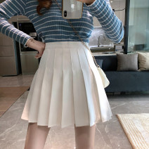 skirt Autumn 2020 S,M,L Gray, white, black Short skirt commute High waist A-line skirt Solid color Type A 18-24 years old 6755H 71% (inclusive) - 80% (inclusive) polyester fiber fold Korean version