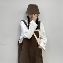 Fashion suit Spring 2021 Average size Navy blue strap, brown strap, rose powder sweater, white sweater 18-25 years old 9278X 51% (inclusive) - 70% (inclusive) cotton