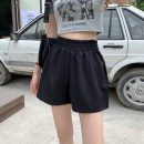 Casual pants Black, apricot Average size Summer 2021 shorts Wide leg pants High waist commute Thin money 18-24 years old 51% (inclusive) - 70% (inclusive) 1681H Korean version polyester fiber