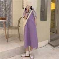 Fashion suit Spring 2021 Average size Purple Plaid shirt, blue plaid shirt, purple skirt, blue skirt 18-25 years old 5106M 51% (inclusive) - 70% (inclusive) cotton