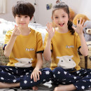 Home suit Jiahua Meiju summer neutral Cotton 100% 3 years old, 4 years old, 5 years old, 6 years old, 7 years old, 8 years old, 9 years old, 10 years old, 11 years old, 13 years old, 14 years old Anti static and anti bacteria Pure cotton (95% and above) Class B Summer of 2019