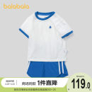 suit Bala 90cm,100cm,110cm,120cm,130cm neutral summer leisure time Short sleeve + pants 2 pieces Thin money No model Socket nothing Cartoon animation cotton other Cotton 100% 3, 4, 5, 6, 7 Chinese Mainland
