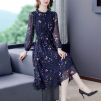 Dress Autumn 2020 navy blue S,M,L,XL,2XL