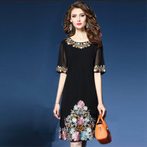 Dress Summer 2021 black S,M,L,XL,2XL,3XL Middle-skirt singleton  commute other other Others Type A lady