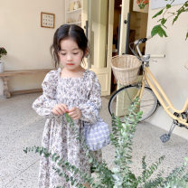 Dress white female Other / other 80cm,90cm,100cm,110cm,120cm Cotton 100% spring and autumn Korean version Long sleeves Broken flowers cotton A-line skirt 21qz607 12 months, 18 months, 2 years old, 3 years old, 4 years old, 5 years old, 6 years old Chinese Mainland