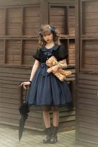 Dress Summer 2021 Light blue X generation, sky blue x Black, pink x white Xs, s, m, l, XL, 2XL, skirt body does not contain neckline bow, small things in another page Original Lolita Dress