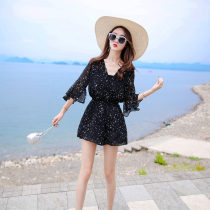 Casual pants One piece Romper Romper + chest wrap MLXL Summer of 2018 shorts Jumpsuit High waist commute Thin money 25-29 years old 96% and above