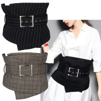 Belt / belt / chain cloth Black, black stripe, white stripe, gray stripe, brown stripe, apricot stripe female Waistband Versatile Single loop Middle age, youth, youth Pin buckle Glossy surface soft surface alloy Heavy wire decoration, knitting, bare body Other / other