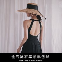 one piece  Durant swimsuit M,L,XL black Skirt one piece With chest pad without steel support nylon KLT20191023 female Sleeveless Solid color backless