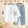 suit Other / other female summer solar system other 2 pieces routine No model Socket nothing Cartoon animation cotton children Giving presents at school Class B Cotton 80% polyester 20% 10, 11, 12, 13, 14 Chinese Mainland Jiangsu Province Suzhou