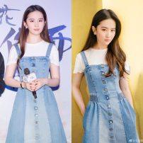 Women's large Spring 2021 Denim suspender skirt S,M,L,XL Dress singleton  commute Socket Korean version Tuneva / Ivar 18-24 years old