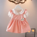 Dress Pink yellow female Knoxville Other 100% summer princess Short sleeve Kitty other A-line skirt Class A Spring 2021 12 months, 6 months, 9 months, 18 months, 2 years, 3 years, 4 years Chinese Mainland Zhejiang Province Huzhou City