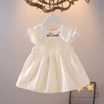 Dress Pale yellow pink female Knoxville 73cm 80cm 90cm 100cm 110cm Other 100% summer Korean version Short sleeve Dot other A-line skirt CBEO-3942 Class A Spring 2021 12 months 6 months 9 months 18 months 2 years 3 years 4 years 5 years old Chinese Mainland Zhejiang Province Huzhou City