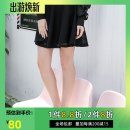 skirt Fall 2017 S,M,L black Short skirt Sweet Natural waist Pleated skirt Solid color Type A 18-24 years old 51% (inclusive) - 70% (inclusive) Labobo labobo cotton solar system