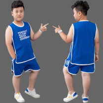 suit Jiyang sheep blue 140cm 150cm 160cm 170cm 180cm male summer leisure time Short sleeve + pants 2 pieces Thin money There are models in the real shooting nothing other cotton TZ-1152x Class B Cotton 96.7% polyurethane elastic fiber (spandex) 3.3% Summer 2021 Chinese Mainland Zhejiang Province