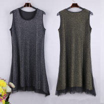 Vest sling Summer of 2019 Gold, silver 40. 2XL, 3XL, 4XL, 5XL, collect baby free freight insurance, join the shopping cart priority delivery singleton  Medium length easy Versatile camisole Solid color Lace Sequin, swallow tail, gauze net, lace, hollow out