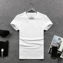 T-shirt Youth fashion White, gray, black, jade green, orange routine M,L,XL,2XL,3XL,4XL Yihangmei Short sleeve Crew neck Self cultivation daily summer Cotton 95% other 5% youth routine Business Casual other 2019 Solid color Solid color Cotton ammonia Customization / DIY No iron treatment