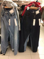 Jeans Spring of 2019 Light blue, dark blue XS,S,M,L trousers High waist Straight pants routine 31% (inclusive) - 50% (inclusive)