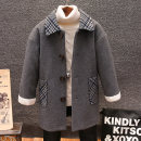 woolen coat grey 100cm,110cm,120cm,130cm,140cm,150cm,160cm male Other / other blending No model nothing Korean version thickening winter Single breasted Polyacrylonitrile 58% polyester 30% wool 12% Solid color Lapel and pointed collar QYDM4059 Class B Polyester 100% Cotton liner
