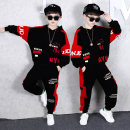 suit Aierjunyi male spring and autumn motion Long sleeve + pants 2 pieces routine There are models in the real shooting Socket No detachable cap other cotton children Expression of love Spell red Class B Cotton 93% polyurethane elastic fiber (spandex) 7% Chinese Mainland Guangdong Province