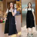 Dress Summer 2021 black suit  M,L,XL,2XL Mommy Ye Zi