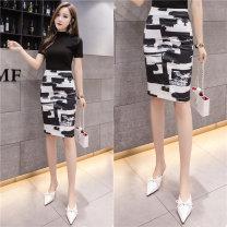 skirt Spring 2020 S,M,L,XL Decor Middle-skirt commute High waist skirt Decor Ol style