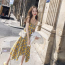 Dress Summer of 2019 Picture color S. M, l, XL, 2XL, XXXs pre-sale Middle-skirt singleton  Sleeveless commute middle-waisted lattice Socket Pleated skirt Others 18-24 years old Other / other Korean version Splicing 51% (inclusive) - 70% (inclusive) other other