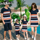 Parent child fashion Weituo nobility neutral A family of three XWFPI_1620454944683 summer leisure time routine stripe suit cotton XXL QCTOE_1620454944968 Class B Cotton 95% polyurethane elastic fiber (spandex) 5% XXL Spring 2021 Chinese Mainland Guangdong Province Dongguan City