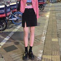 skirt Spring 2021 S,M,L Light blue, black Short skirt commute High waist A-line skirt Solid color Type A 18-24 years old T072 81% (inclusive) - 90% (inclusive) Denim other Pocket, zipper Korean version