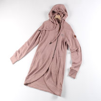 Sweater / sweater Autumn 2020 Light gray, brick red, brick red defect payment is not refundable G,M,CH,EEG,ECH,EG Long sleeves Medium length Cardigan routine Hood Self cultivation 51% (inclusive) - 70% (inclusive) cotton zipper
