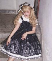 Dress Summer 2020 Black suspender skirt Average size Middle-skirt singleton  Sleeveless Sweet High waist camisole 18-24 years old Type A Lolita