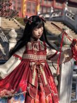 Dress Winter 2020 Fox plus two regiment full, service, fox plus tail, fox plus two regiment appointment intention gold full, clip a pair, fan S,M,L Mid length dress singleton  Long sleeves Sweet High waist Decor Socket Princess Dress routine Others 18-24 years old Type A printing other Lolita