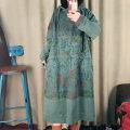 Sweater / sweater Winter 2020 green Pass code Long sleeves Medium length Socket singleton  routine Hood easy street raglan sleeve 96% and above cotton Asymmetric, worn, printed, pocket cotton Europe and America