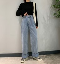 Women's large Spring of 2019, autumn of 2019 Picture color Jeans 18-24 years old trousers