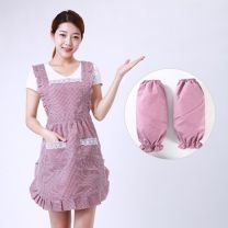 apron Rose, Fuchsia, coffee, light blue, Navy, rose + sleeve, fuchsia + sleeve, coffee + sleeve, light blue + sleeve, Navy + sleeve Sleeveless apron antifouling Korean version other Personal washing / cleaning / care Average size See description public like a breath of fresh air