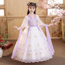 Dress Red, pink, purple, 607 pink, 608 pink, 608 Dousha, red 601 + headdress, pink 606 + headdress, purple 606 + headdress, 607 pink + headdress, 608 pink + headdress, 608 Dousha + headdress female Other / other 110cm,120cm,130cm,140cm,150cm,160cm Other 100% summer princess Short sleeve Solid color