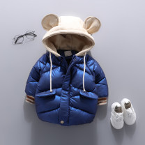 Cotton padded jacket neutral No detachable cap Cotton 96% and above Other / other KX Blue Plush thickening, KX red plush thickening 90cm,100cm,110cm,120cm,130cm Plush Zipper shirt Korean version Cartoon animation Cotton liner 12 months, 18 months, 2 years old, 3 years old, 4 years old