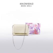 Bag Inclined shoulder bag PU Small square bag maomibag Coffee Khaki black brand new Japan and South Korea Small leisure time soft Magnetic buckle no