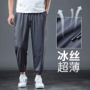 Casual pants Others Youth fashion Black [hem], gray [hem], black [hem zipper pocket], gray [hem zipper pocket], camouflage [ice silk], black [mesh], camouflage [mesh], black [straight tube], gray [straight tube] S,M,L,XL,2XL,3XL,4XL,5XL,6XL Ninth pants motion easy High shot summer Large size tide