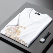 T-shirt Youth fashion White, black routine M,L,XL,2XL,3XL,4XL Others Short sleeve Crew neck standard daily summer PA2021022403 Regenerated cellulose fiber 48% polyethylene terephthalate (polyester) 28% cotton 24% youth tide 2020 other Embroidered logo cotton No iron treatment