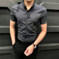 shirt Fashion City Others S,M,L,XL,2XL,3XL Black, Khaki routine Button collar Short sleeve Self cultivation Other leisure summer PA2021030908 youth Polyester fiber 63% viscose fiber (viscose fiber) 33.5% polyurethane elastic fiber (spandex) 3.5% Business Casual 2021 other Plaid No iron treatment