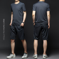 Leisure sports suit summer M,L,XL,2XL dark grey Short sleeve Other / other shorts youth T-shirt PA2021032102 2021