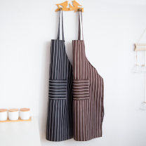 apron Black and white stripes, coffee stripes Sleeveless apron antifouling Simplicity other Household cleaning Average size A02889 Clear jade dew no