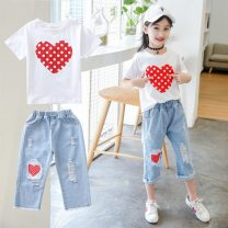 Fashion suit Summer 2021 90, 100, 110, 120, 130, 140, 150, 160 Under 17 Other / other 96% and above cotton