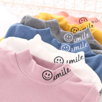 T-shirt White, ginger, gray, orange, taro purple, sea blue What are you doing 100cm,110cm,120cm,130cm,140cm,150cm,160cm neutral spring and autumn Long sleeves High collar Simplicity No model nothing cotton Solid color Cotton 95% bamboo fiber 5% Class B Sweat absorption Chinese Mainland Foshan City