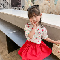 suit Class two gules female summer Korean version Short sleeve + skirt 2 pieces routine There are models in the real shooting Socket nothing Botany other children Expression of love Q2070 Class B Other 100% Two, three, four, five, six, seven, eight, nine Chinese Mainland